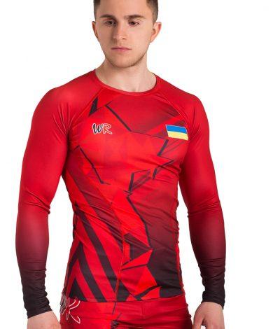 Компрессионное белье Стекло, красное (рашгард и лосины) Все для борьбы | Wr-Wrest